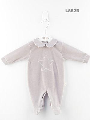 Baby Gi - Velours - Grijze ster