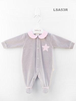 Baby Gi - Velours - Roze ster