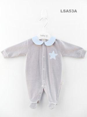 Baby Gi - Velours - blauwe ster